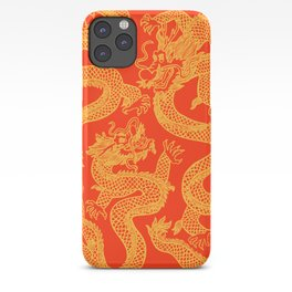 Red and Gold Battling Dragons iPhone Case