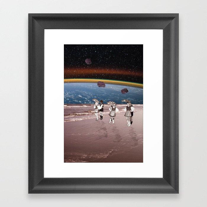 Space Dance Framed Art Print