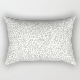 White Moroccan Tiles Pattern Rectangular Pillow