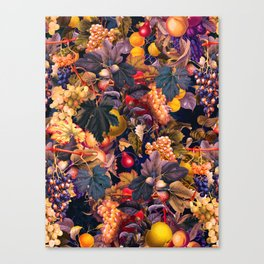 Vintage Fruit Pattern VI Canvas Print