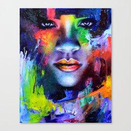 Rihanna Colors Canvas Print