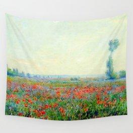 """Claude Monet """"Poppy Field"""", 1881 Wall Tapestry"""