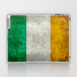 Republic of Ireland Flag, Vintage grungy Laptop & iPad Skin