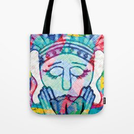 Kissed Tulips Logo Face Tote Bag