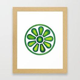 Radial Design Green No.2 Framed Art Print