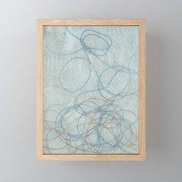 Blue Nest 2 Framed Mini Art Print