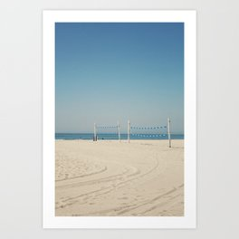 Hermosa Beach Volleyball Art Print
