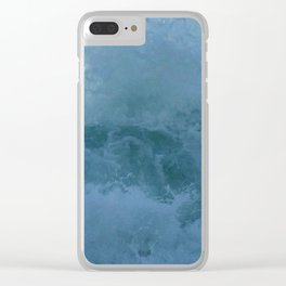 Crashing Waves Up Close by Aloha Kea Photography Clear iPhone Case