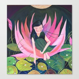 Water lily fairy | Yuko Nagamori Canvas Print