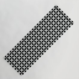 Geometric Pattern 247 (white crosses) Yoga Mat