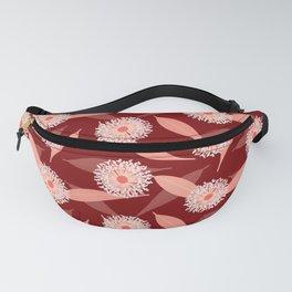 Australian Flora in Red Fanny Pack