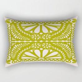 Fiesta de Flores in Lime Rectangular Pillow