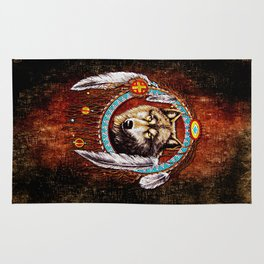 Indian Native Wolf Dreamcatcher iPhone 4 5 6 7, ipod, ipad, pillow case and tshirt Rug