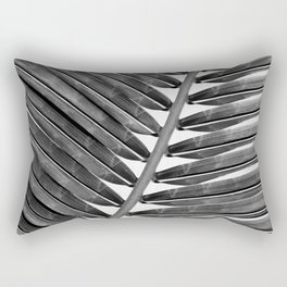 Palm Leaf 2 - Black & White Rectangular Pillow