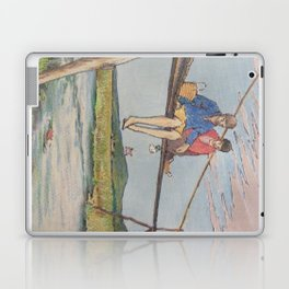 Dropping flowers in the stream Laptop & iPad Skin