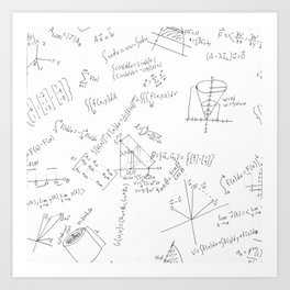 As Calculus Goes to Infinity... Art Print