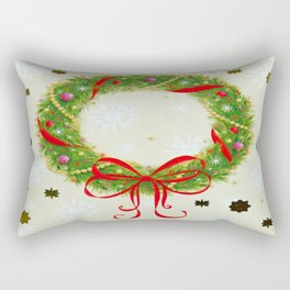 Christmas Wreath Rectangular Pillow