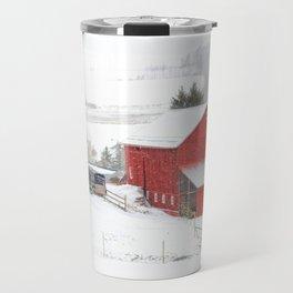 Amish Barns Travel Mug
