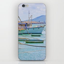 Boats on the river iPhone Skin