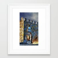 medieval Framed Art Prints featuring Medieval Gate by Miguel A. Martin