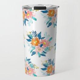 Floral Bloom Bundle in Blue Travel Mug