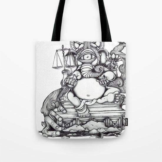 Abstract Ganesh Tote Bag