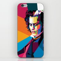 johnny depp iPhone & iPod Skins featuring Johnny Depp by Rawandarts