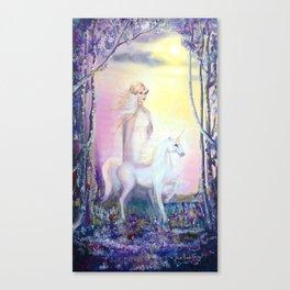 Princess and Unicorn Canvas Print