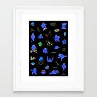 teenage mutant ninja turtles Framed Art Prints featuring Teenage Mutant Ninja Turtles by catalinabu