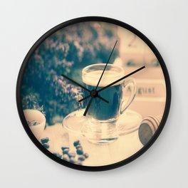 Coffee break in the Lavender Time Wall Clock