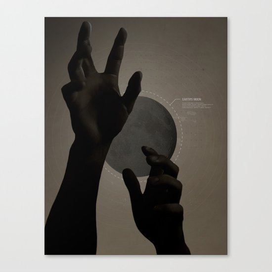 Hand's on the Moon Canvas Print