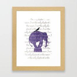 the only elephant Framed Art Print