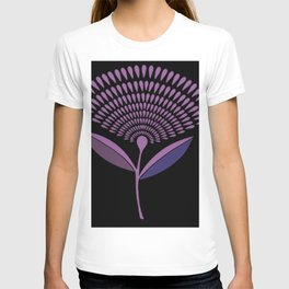 Mid Century Modern Dandelion Seed Head In Lilac T-shirt