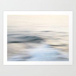 Silent waves Art Print