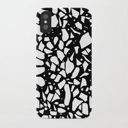 Terrazzo Spot 2 Black iPhone Case