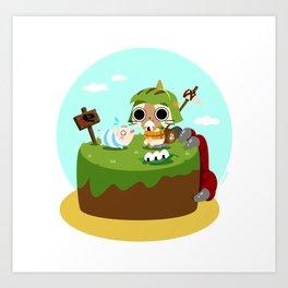 Monster Hunter - Felyne and Poogie Art Print
