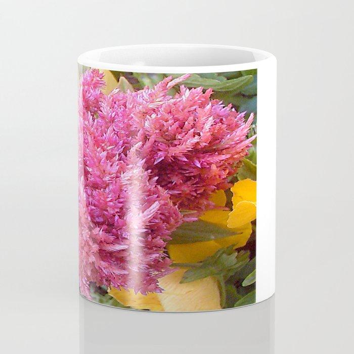 A Pink Celosia Coffee Mug
