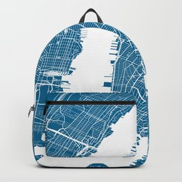 Blue New York City Map Backpack