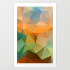 Colored polygon pattern. Art Print