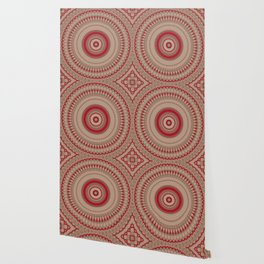 Textured Red Madala Wallpaper
