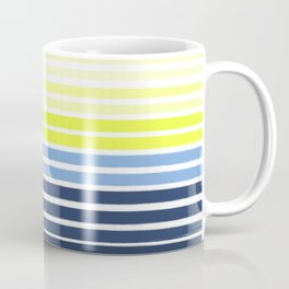 Stripes - Navy and Yellow -- Bright Summer Stripe Design for Cell Phone Case Coffee Mug