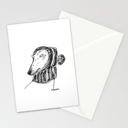 winter greyhound Stationery Cards