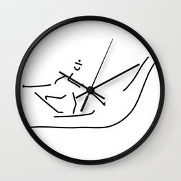 go cross-country skiing play skat Wall Clock