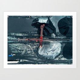 Aerial View of a Coal Mine Art Print
