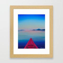 Kayak Series #1: Comox Framed Art Print
