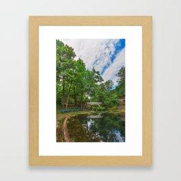 Jean-Drapeau Arch Pond Framed Art Print