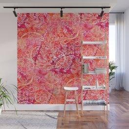 Abundance, Abstract Art Circles Grunge Wall Mural