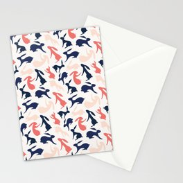 Abstract Rabbits Pattern Stationery Cards