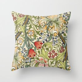 Modern poster-William Morris-Vegetable print 4. Throw Pillow