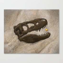 Tyrannosaurus Rex with Orange to scale Canvas Print